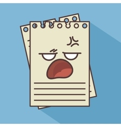 Notebook character isolated icon design vector