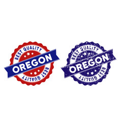 Oregon state best quality stamp with grungy vector