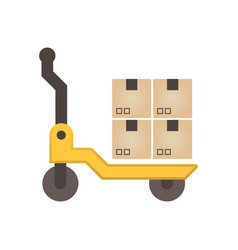 pallet box icon vector image