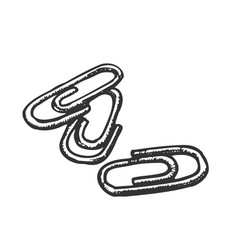 paper clips office stationery monochrome vector image