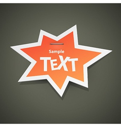 Paper sticker with empty space vector