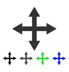 Quadro arrows flat icon vector