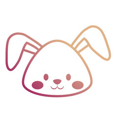 rabbit face vector image