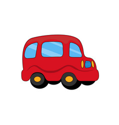 red toy plastic car with capacious rounded salon vector image