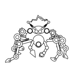 Robot toy spider vector
