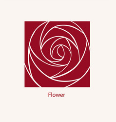 Rose label abstract design cosmetics logotype vector