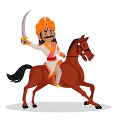 Samrat ashok cartoon character vector