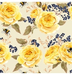 Seamless vintage flowers vector image
