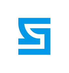 Sj letter monogram logo template abstract square vector