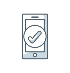 smartphone technology flat icon vector image