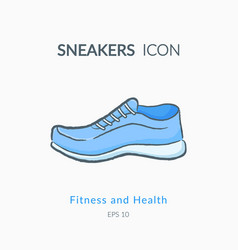 sneakers icon isolated on white vector image