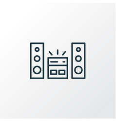 sound system icon line symbol premium quality vector image