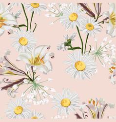 spring flower seamless pattern vector image
