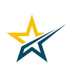 Star logo template icon design vector