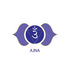 Third eye chakra ajna logo template sixth sign vector