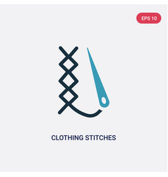 Two color clothing stitches icon from woman vector
