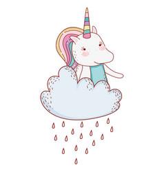 unicorns fantasy cartoons vector image