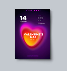 Valentines day party poster mockup vector