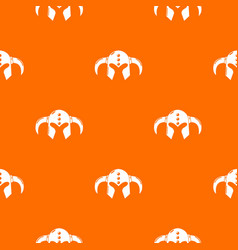 viking helmet classic pattern orange vector image