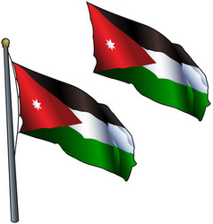 Waving jordanian flag vector