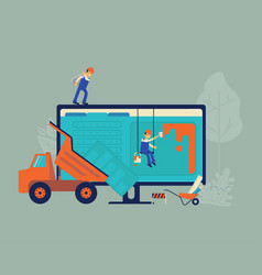 Website under construction and development concept vector