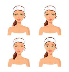 Women face spa concept set vector
