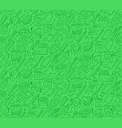 Zero waste kitchen items seamless pattern vector