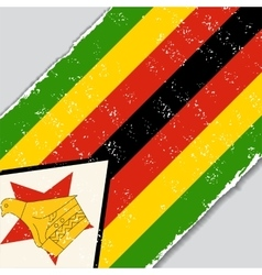 Zimbabwe grunge flag vector