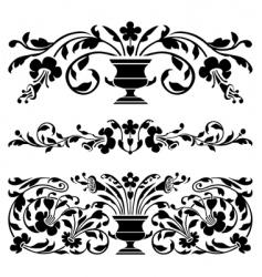 antique borders vector image vector image