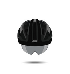 Bicycle helmet on a white background vector