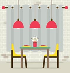 Empty Dinning Room Interior vector image