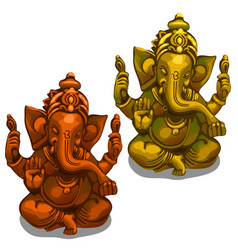 figurines of the indian deity of ganesha vector image vector image