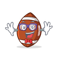 geek american football character cartoon vector image vector image