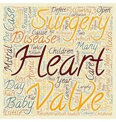 Congenital heart disease open heart surgery for vector
