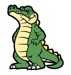 crocodile cartoon character vector image vector image