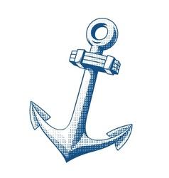 Ship anchor tattoo vector image vector image