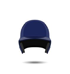 blue baseball helmet on white background vector image vector image