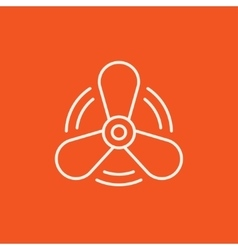 Boat propeller line icon vector image