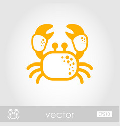 Crab outline icon summer vacation vector