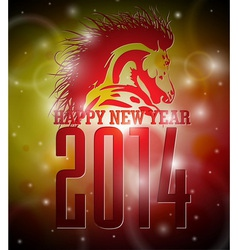 Happy New Year 2014 design with horse vector image