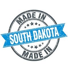 made in South Dakota blue round vintage stamp vector image