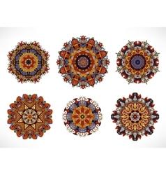 Mandala Vintage decorative elements Hand drawn vector image vector image