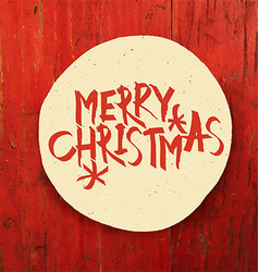 Merry Christmas Design On Red Planks Texture vector image vector image