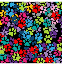 Paw Print background vector image vector image