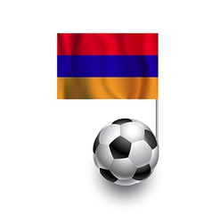 Soccer Balls or Footballs with flag of Armenia vector image vector image