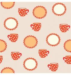 tableware pattern vector image vector image
