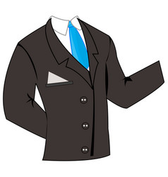 business suit with tie vector image