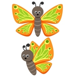 Butterfly As A Funny Character Cute vector image