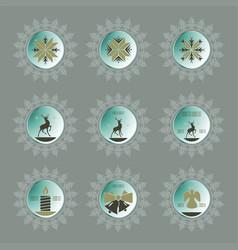 christmas soft snowflake set vector image