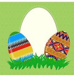 Easter painted eggs vector image vector image
